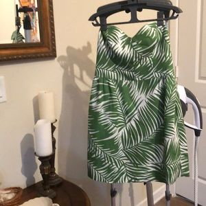 Milly of New York Strapless Palm Sundress